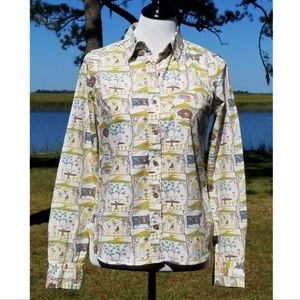 Odille Tarpan State Fair button up shirt